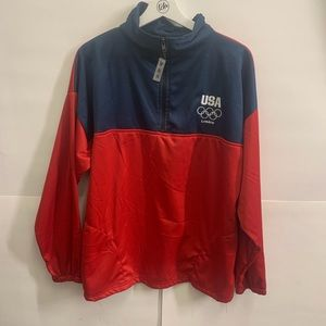 USA London Olympic Large Jacket Pullover 1/4 Zip